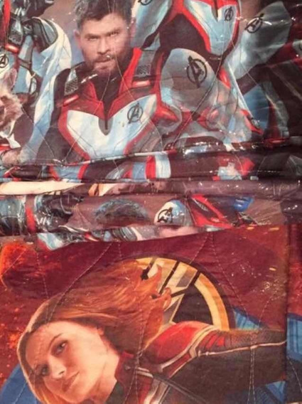Colcha Individual Para Niños D Los Avengers + Funda D Regalo