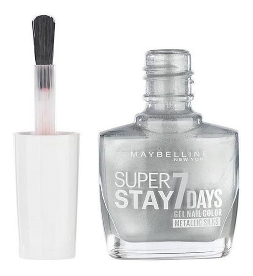 Esmalte Uñas Gel Maybelline Superstay 7 Day Silver Plateado