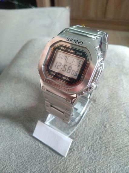 Relógio Skmei 1456 - Homage Casio G-shock Full Metal Aço