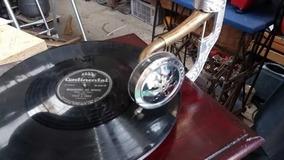 Gramofone Vitrola A Corda - Replica Roda Só 78 Rpm