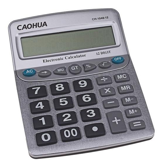 Calculadora 12 Dígitos Eletrônica De Mesa Básica Grande 1048