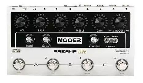 Pedaleira Multi Preamp Live Mooer Para Guitarra M999