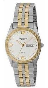 Relógio Unissex C/pulseira De Aço Bicolor 2105as/5k -technos