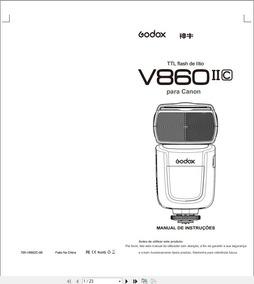 Manual Em Português Do Godox V860 Ii Da Canon