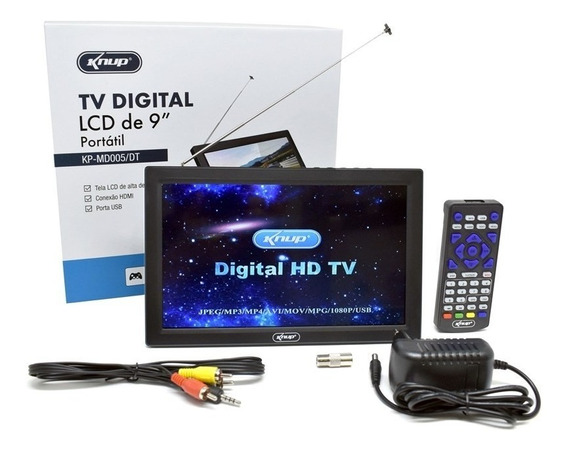 Tv Digital Hd Portátil Recarregável 9