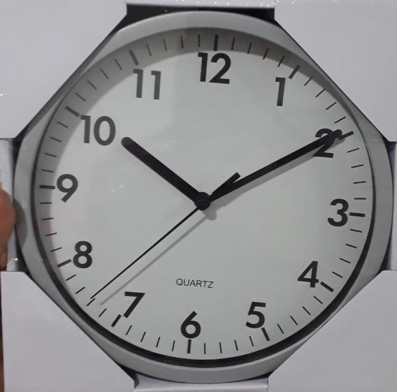 Relógio De Parede Prata 20cm Yazi
