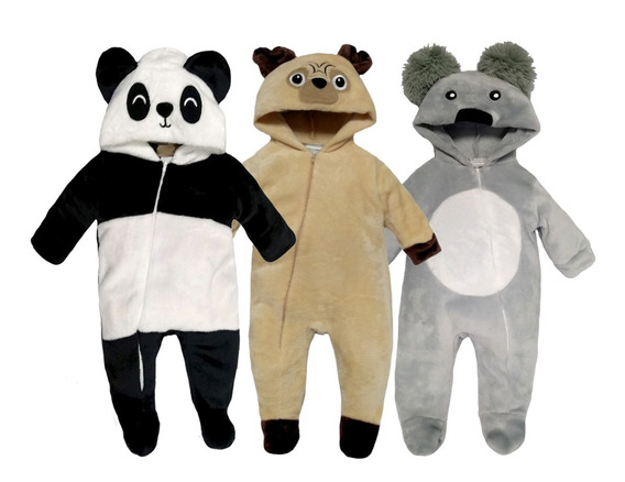 Kit 3 Mamelucos Panda, Pug, Koala A Precio De 2