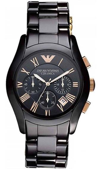 Relógio Emporio Armani Cerâmica Ar1410 Chronograph Black