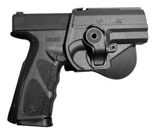 Coldre Pistola Ostensivo Ts9 Striker Taurus Kit Cac Policial