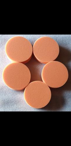 Imagen 1 de 1 de Kit 5 Pads De Corte De Espuma Naranja De 5 Pulgadas 5