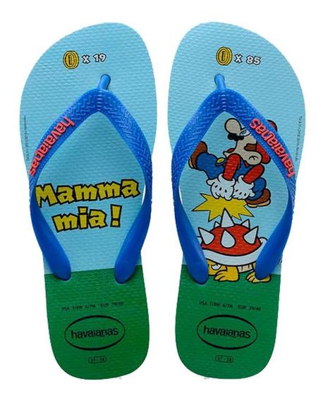Chinelo Masculino Havaianas Mario Bros,nintendo, Original