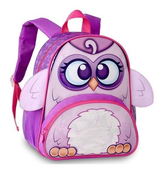 Mochila Bolsa Escolar Infantil Menino Menina Bichinhos Mi001