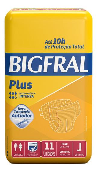 Fralda Geriátrica Bigfral Plus Juvenil - 11 Unidades