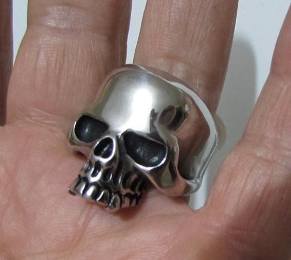 Anel Crânio Aço Inox