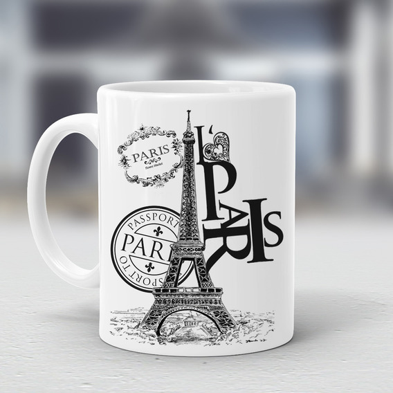 Taza Torre Eiffel Paris Francia Colores Regalos #008