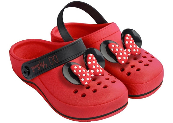Sandália Babuche Menina Grendene Kids Disney Minnie Original 6x S/ Juros