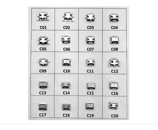 Conector Carga - Cel. Tablet Micro Usb V8 Kit - Com 20 Peças