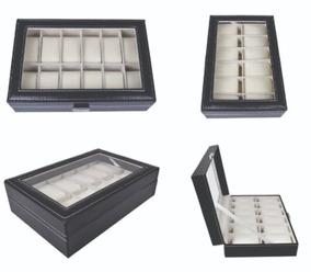 Caixa Organizadora De Relógio Estojo Corino 12 Unid / Sx-12