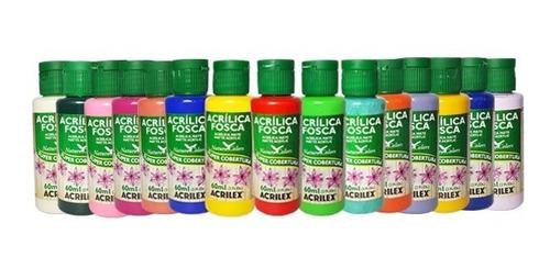 Tinta Acrílica Acrilex Nature Colors Kit C 15 Cores-promoção