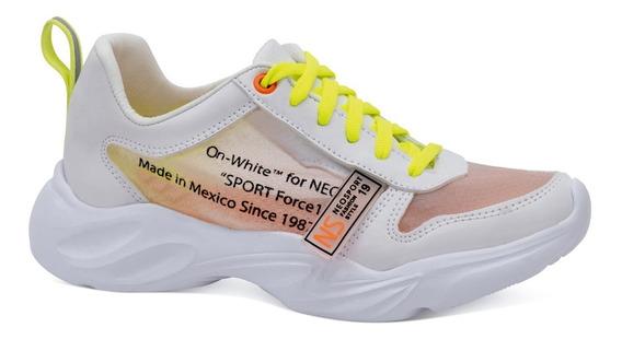 Neosport Tenis Sneakers Casuales Plataforma Neon 6691111
