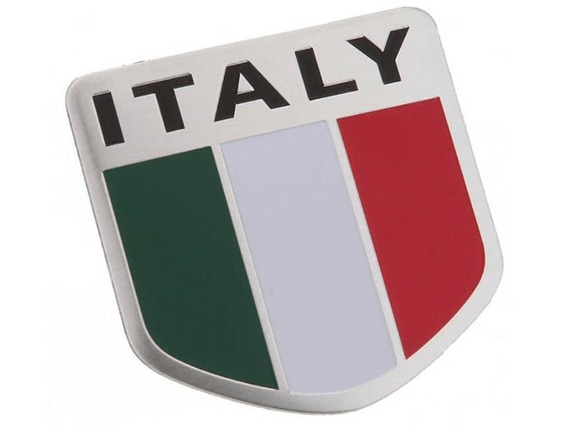 Emblema Badge Italy Aço Inox Adesivo Itália