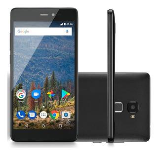 Celular Smartphone Mirage 82s Sensor De Impressão Digital 4g Tela 5,5 Ram 2gb Dual Câmera Quad Core Preto Frete Grátis