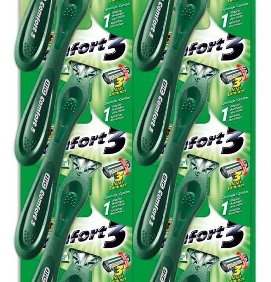 Barbeador Bic Verde Comfort 3 Pele Sensível 1x12 Uni