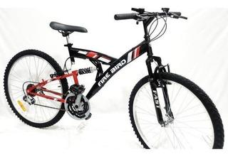 Bicicleta Mtb Firebird Doble Suspension Rodado 26 - Racer