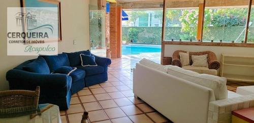 Casa Para Alugar, 380 M² Por R$ 6.000,00/mês - Acapulco - Guarujá/sp - Ca0543