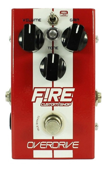 Pedal De Overdrive Para Guitarra - Fire Custom Shop