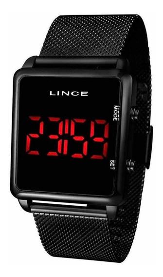 Relógio Digital Lince Mdn4596l Pxpx Quadrado Preto Feminino