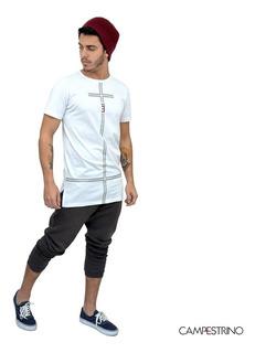 Camisa Long Line Cross White/ Tam. P / Cor Branca