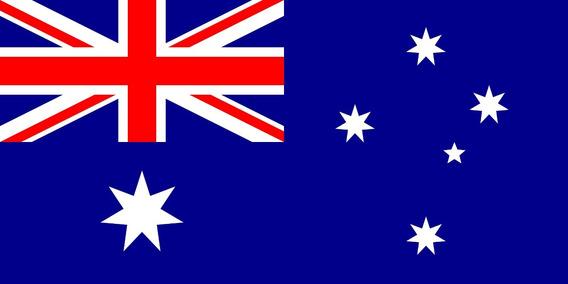 Placa Quadro Decorativo Da Bandeira Da Austrália 28x20 Cm