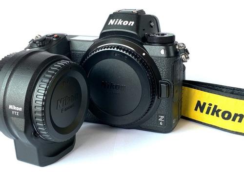 Camera Nikon Z6 Mirrorless Com Adaptador Ftz, 4100 Cliques!