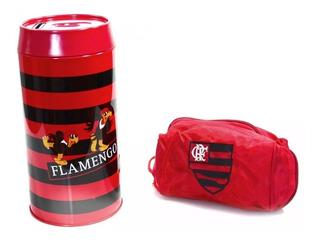 Kit Porta Moeda Cofre + Sacola Porta Chuteira - Flamengo