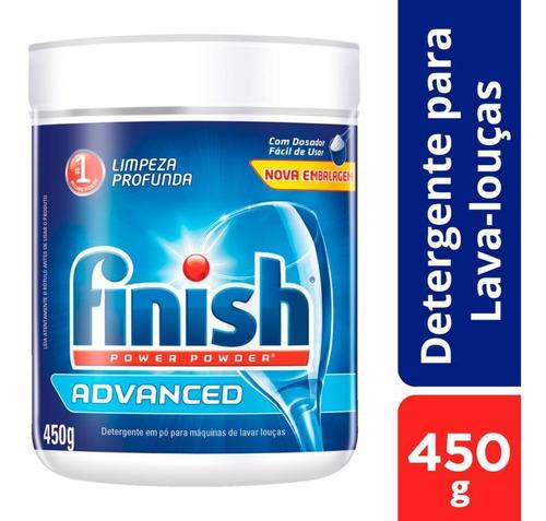Finish Detergente Lava-louças Em Pó 450g Limpeza Profunda