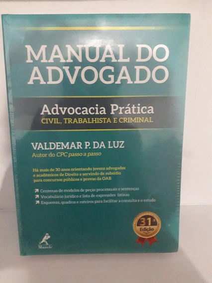 Manual Do Advogado Civil Trabalhista E Criminal 2019