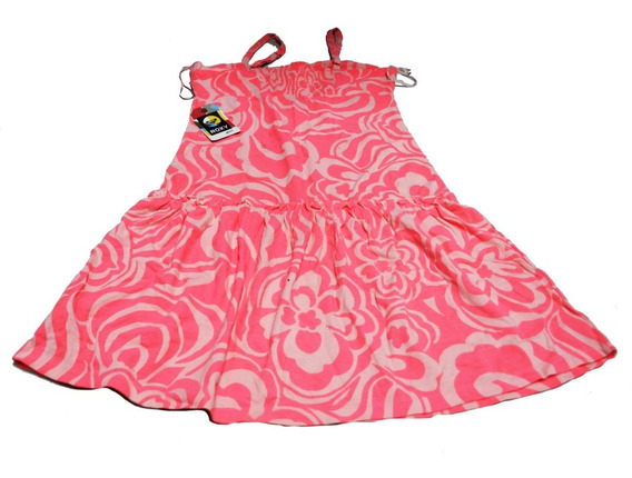 Roxy Vestido Ninas O Damas Rosa Nuvo Original