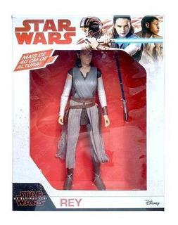 Boneca Brinquedo Figura De Ação Rey Star Wars 45cm Da Mimo