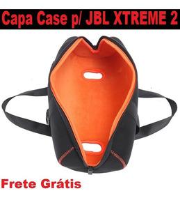 Capa Case Jbl Xtreme 2 Neoprene Eva + Bolsa Para Acessórios
