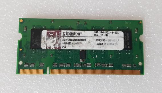 Memória Kingston P/ Notebook 1gb Ddr2 1rx8 Pc2-6400s