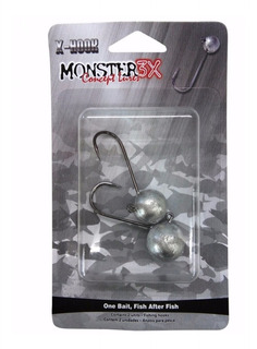 Anzol Jig Head Monster3x X-hook (4/0 17g) Isca Soft Silicone