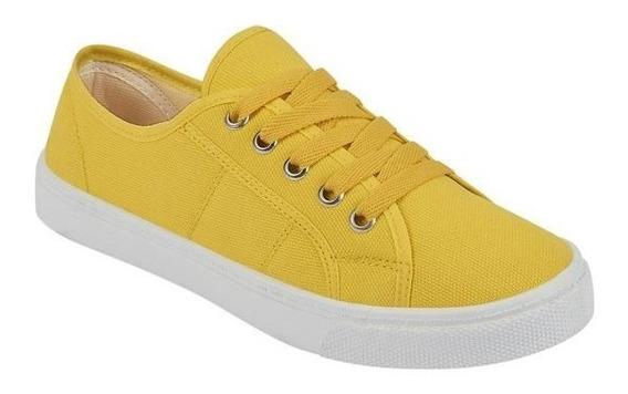Tenis Para Dama Color Amarillo, Marino Y Rojo Terra 022459