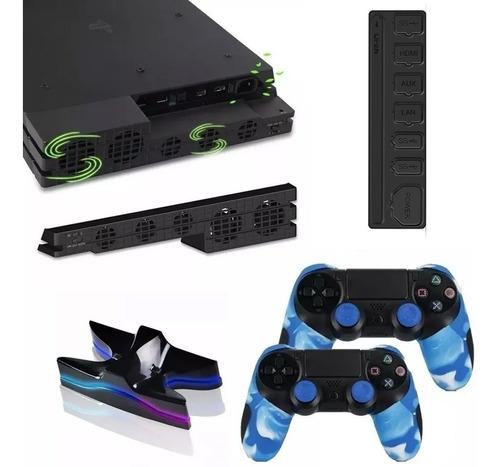 Combo Protege Tu Consola Y Mando Compatible Con Ps4 Pro