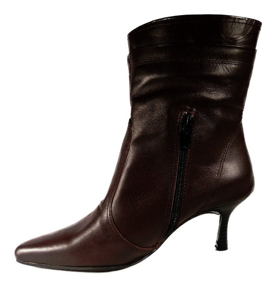 Bota Cierre Taco Cuero Mujer Shoestore Liquidacion