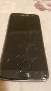 Samsung S7 Edge Com Tela Quebrada - Funcionando.