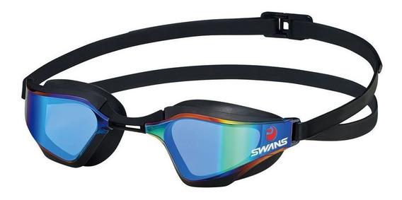 Óculos Natação Sr-72m Lente Curvada Espelhada Único Swans