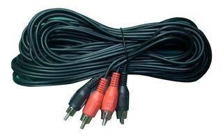 Cable Audio 2 Rca A 2 Rca - 7 Metros X 10 Unidades