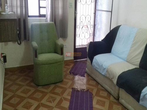 Casa Terrea No Bairro Vila Palmares Em Santo Andre Com 02 Dormitorios - V-29365