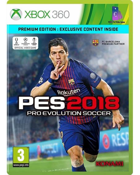 Jogo Xbox 360 Em Mídia Digital Pes 2018 Premium Edition !!!!